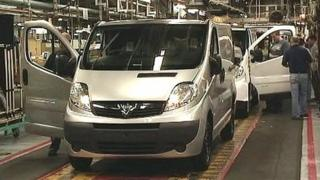 Vauxhall production line in Luton