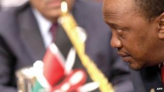 Kenyan President Uhuru Kenyatta pictured on 19 November 2013