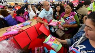 Walmart shoppers in Rosemead, California, get an early start on Black Friday Shopping this week.