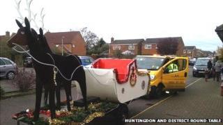 AA patrol recuing Santa's sleigh in Buckden