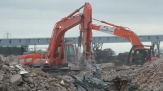 The demolition work