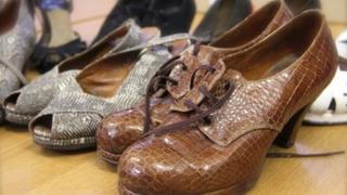 Roger Fearnside's crocodile shoe collection