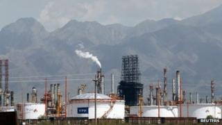 A refinery owned by YPF in Argentina