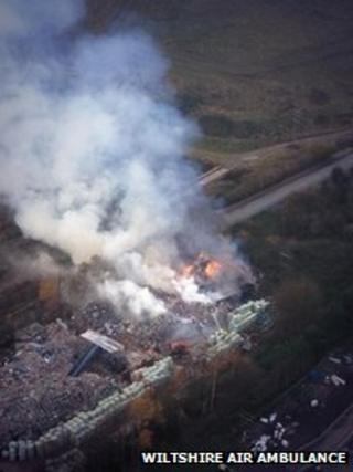 Swindon Skips fire