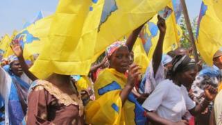 Supporters of President Kabila