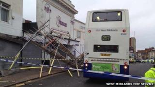 Scaffolding collapse in Dudley