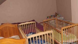 Three cots