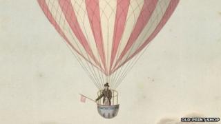 first Nottingham balloon flight by James Sadler in 1813