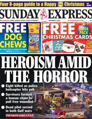 Sunday Express front page 1/12/13