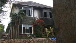 The derelict house where the fire happened