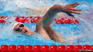 Swimmer James Guy