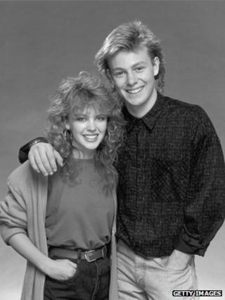 Kylie Minogue and Jason Donovan in 1987