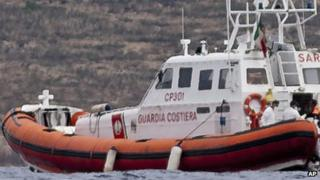 File picture of Italian coast-guard patrol boat