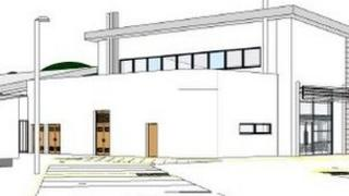 An architect's plans for the Newtown primary school