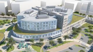 Artist's impression, New Papworth Hospital, Cambridge