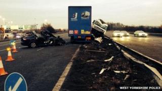 M62 crash