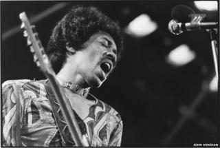 Jimi Hendrix at the Isle of Wight Festival, 1971