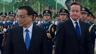 Premier Li Keqiang and David Cameron