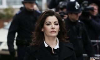 Nigella Lawson arriving at court