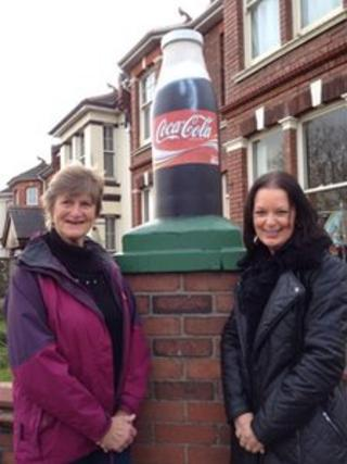 Paignton milk bottle turned Coke bottle