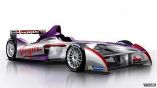 The Virgin E car and livery
