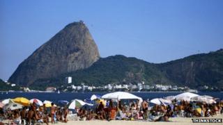 A beach in Rio