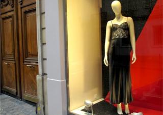 Mannequin in shop window in Paris