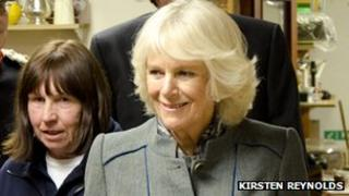 Mary Rigg and the Duchess of Cornwall at Emmaus Hastings and Rother
