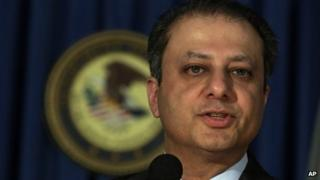 Preet Bharara, US Attorney for the Southern District of New York, appeared in New York on 28 May 2013