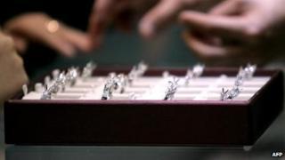 Diamond rings (file image)