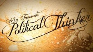 Political thinker graphic