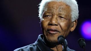 Nelson Mandela at Live8 in 2005