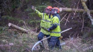 Engineers from SSE working to restore supplies