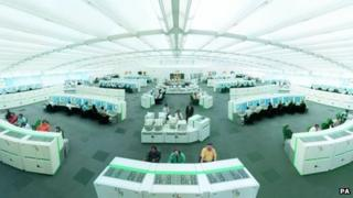 National Air Traffic Services (Nats) control centre in Swanwick, Hampshire