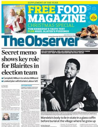 Observer front page 8/12/13