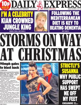 Daily Express front page 9/12/13