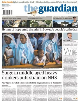 Guardian front page 9/12/13