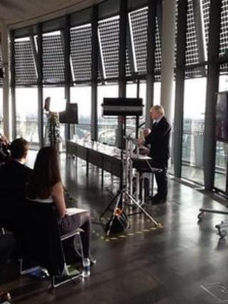Boris Johnson addressing City Hall