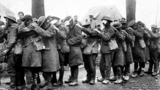 Gassed soldiers during WW1