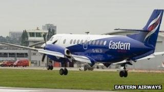 Eastern Airways plane landing at Southampton Airport