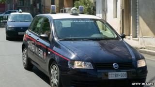 Carabinieri police cars