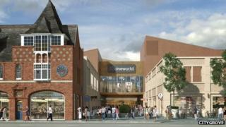 Artist impression of the new complex on Baxter Gate in Loughborough