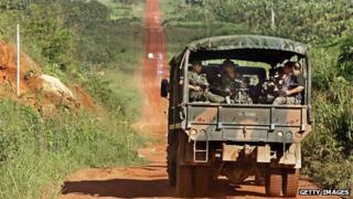 A Brazilian Army unit in the Amazonian region of northern Brazil