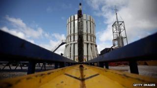 A fracking plant in Preston, Lancashire