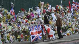 Floral tributes in Woolwich after the attack