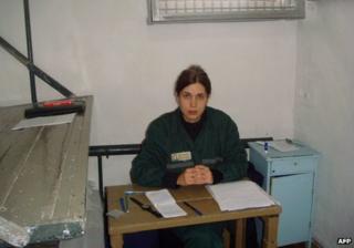 Nadezhda Tolokonnikova in cell in Mordovia penal colony, 25 Sep 13