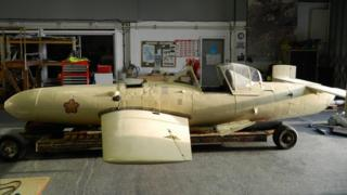 A rare Japanese kamikaze aircraft, an Ohka 2
