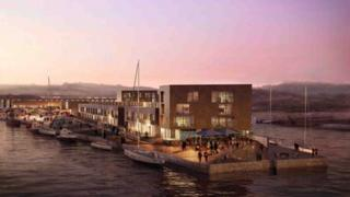 Artistic impression of Hayle's South Quay
