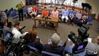 Evan Jennings speaks to media on 18 June 2013