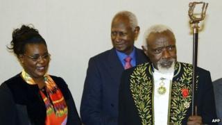 Ousmane Sow at the Paris ceremony